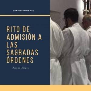rito de admision a las sagradas ordenes del presbiterado y diaconado